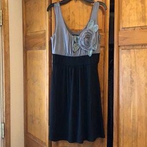 NWT Vanity Black & Grey Flower Dress Small